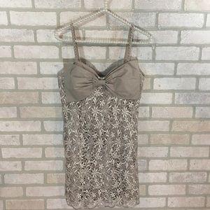 Twelve by Twelve Los Angeles Taupe Lace Dress